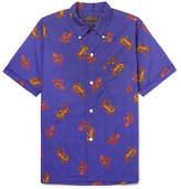 Beams Slim-Fit Button-Down Collar Paisley Cotton-Jacquard Shirt