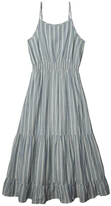 Toad&Co Airbrush Maxi Dress (High Tide Uneven Stripe) Women's Clothing