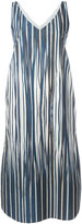 Stephan Schneider striped midi dress - women - Cotton - S