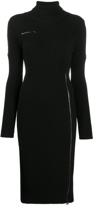 Tom Ford Zip Detailed Knitted Dress