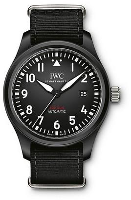 IWC Pilot Top Gun Ceramic & Textile Strap Watch