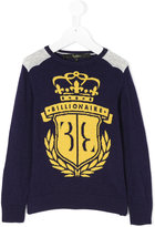 Billionaire Kids logo intarsia jumper
