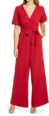 Julia Jordan Puff Sleeve Jumpsuit