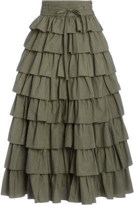 Ulla Johnson Margot Ruffled Tiered Maxi Skirt