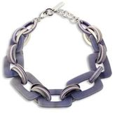 Lafayette 148 New York Gradient Finish Square Link Necklace