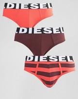 Diesel Stripe Briefs In 3 Pack