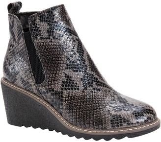 Muk Luks Women's Wedge Ankle Booties - Dionne