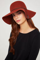 BCBGeneration Feather Detail Felt Floppy Hat - Brown
