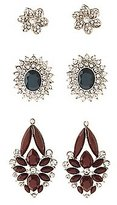 Charlotte Russe Embellished Cluster Earrings - 3 Pack