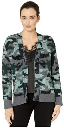 Vince Camuto Camo Short Eyelash Button Down Cardigan (Medium Heather Grey) Women's Sweater