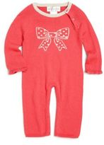 Lucky Jade Baby's Cotton & Cashmere Emily Bow Coverall