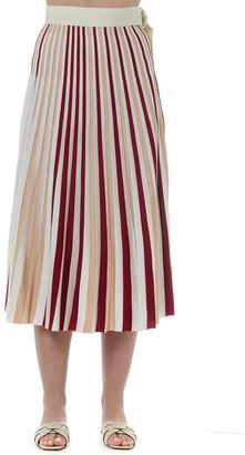 MONCLER GENIUS Pleated Color Block Skirt