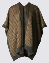 Marks and Spencer Herringbone Knit Wrap
