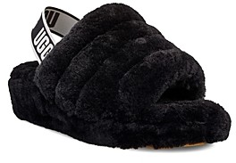 UGG Women's Fluff Yeah Open Toe Fur Slide Slippers