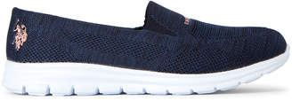 U.S. Polo Assn. Navy & Blush Clone Slip-On Sneakers