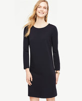 Ann Taylor Ponte Puff Sleeve Shift Dress