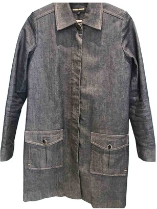 Vanessa Seward Blue Denim - Jeans Trench Coat for Women