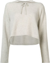 The Elder Statesman cashmere knitted hoodie - women - Cashmere - XS