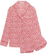 Stella McCartney Poppy Snoozing Printed Stretch-silk Crepe De Chine Pajama Set - Crimson