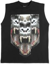 Marcelo Burlon County of Milan Gorilla Cotton Jersey Sleeveless T-Shirt