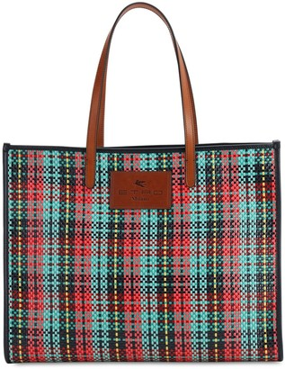 Etro Coated Check Tote Bag