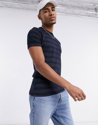 French Connection striped t-shirt in navy