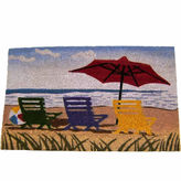 Asstd National Brand Beach Umbrella Rectangular Doormat - 18X30