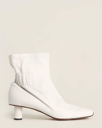 Proenza Schouler White Leather Ankle Booties