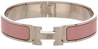 Hermes Palladium-Plated Enamel Narrow Clic-Clac H Bracelet
