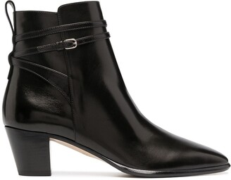 Francesco Russo Side-Buckle Ankle Boots
