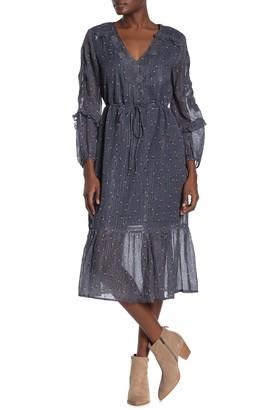 Dolan Zoe Embroidered Cotton Midi Dress