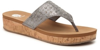 Yellow Box Cristal Wedge Sandal
