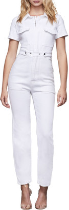 Good American Fit For Success Short-Sleeve Jumpsuit - Inclusive Sizing