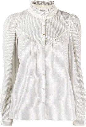 BA&SH Striped Long-Sleeve Shirt