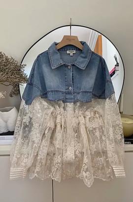 Jovonna London Sakura Light Denim Jacket - ONESIZE