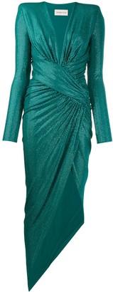 Alexandre Vauthier Sequin Embellished Wrap Dress