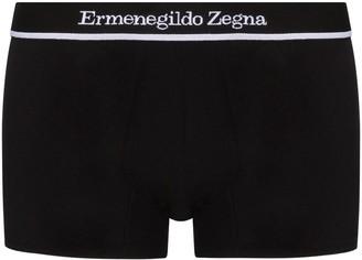 Ermenegildo Zegna Logo-Waist Stretch-Cotton Boxers