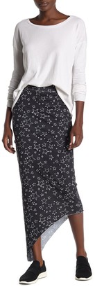 Frank And Eileen Star Asymmetrical Hem Maxi Skirt