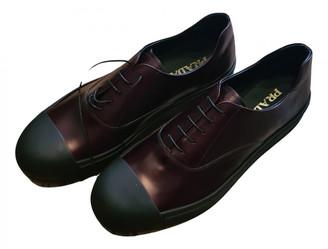 Prada Burgundy Leather Trainers