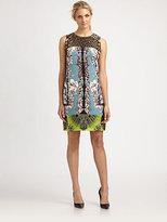 Elie Tahari Ginny Leopard/Floral Dress