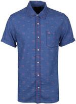 True Religion Indigo Monogram Short Sleeve Shirt