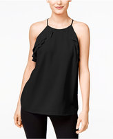 INC International Concepts Petite Ruffled Halter Top, Only at Macy's