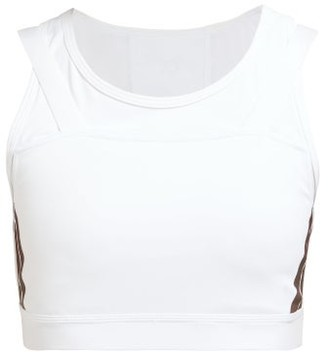 Calvin Klein Racerback Double-strap Sports Bra - Womens - White