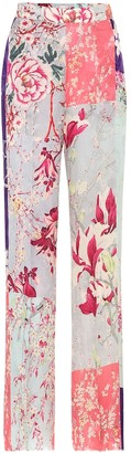 Etro High-rise straight floral pants