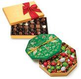 Godiva Chocolatier Holiday Chocolate and Truffle Gift Box Set featuring 36pc Assorted Chocolate Gold Gift Box and 50pc Wrapped Truffle Holiday Gift Tin