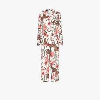 Desmond & Dempsey Soleia organic cotton pyjama set