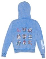 Butter Shoes Little Girl's & Girl's Dog Embellished Hoodie