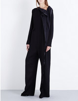 Yang Li Wave-detail wool-blend jumpsuit