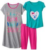 """Girls 4-16 SO® """"Too Cool For Sleep"""" Pajama Set"""