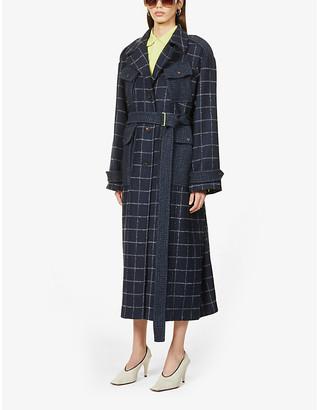 Frenken Affection tartan-print woven coat
